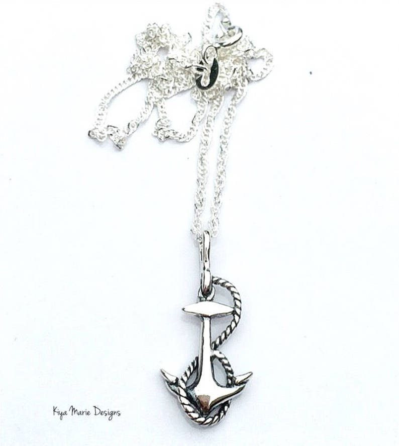 Anchor jewelry ship anchor jewelry sterling silver anchor image 0