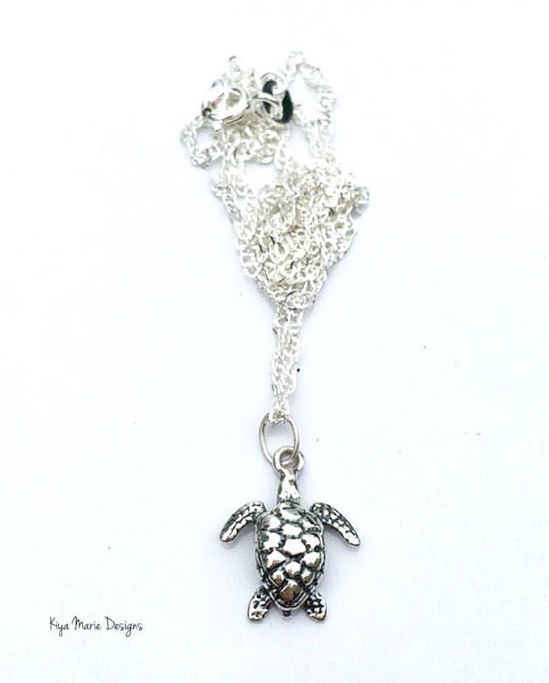 Sea Turtle jewelry turtle jewelry sterling silver sea turtle image 0