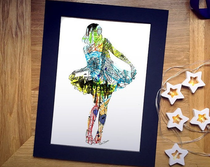 The Lady of New York Illustration Art Print