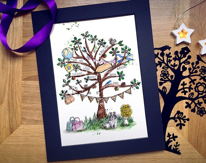 Custom Tree of Life Illustration Print