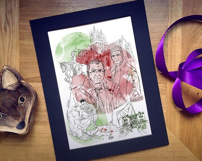 Midsomer Murders inspired Illustration Art Print