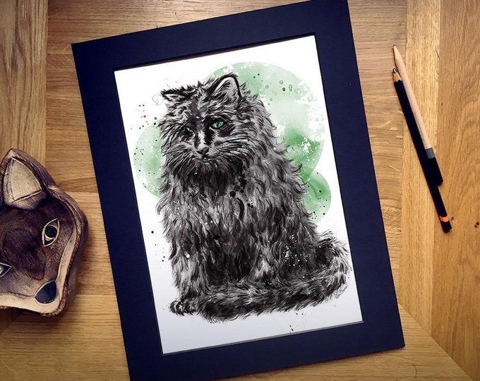 Custom Pet Portrait Art Illustration Print