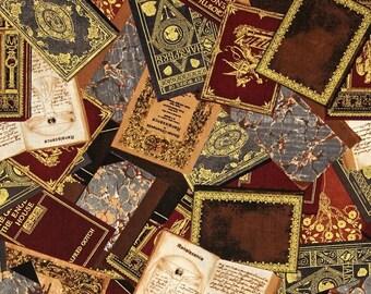 Novelty Fabric, Novel Idea, Renaissance Man, Fabric by the Yard, Books, Classics, Metallic, Quilting, Craft, Home Decor