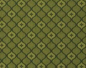 Moroccan Fabric by the Yard, Quilting, Trellis, Cotton, Tonal, Tone on Tone, Blender, Olive, Green, Rosa, Tile, Small Print, Decor