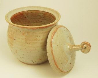 Lidded Jar With Spiral Knob