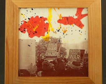 Stop the War on Choice -- Framed Tile