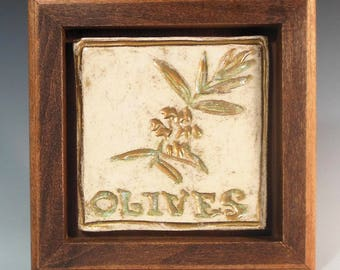 The Seven Species - Olives - Ceramic Tile