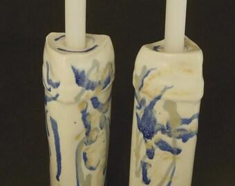 Slip Cast Porcelain Candlesticks