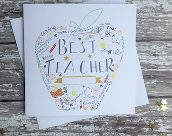 Best teacher gold apple
