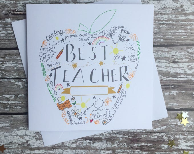 Featured listing image: Best teacher gold apple