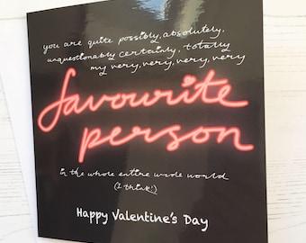 Valentine's card - favourite person