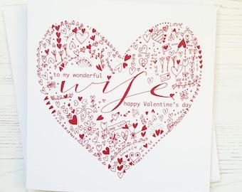 Valentine's card - wife