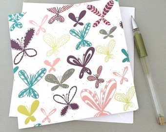 Blank card - Butterfly notes notecard