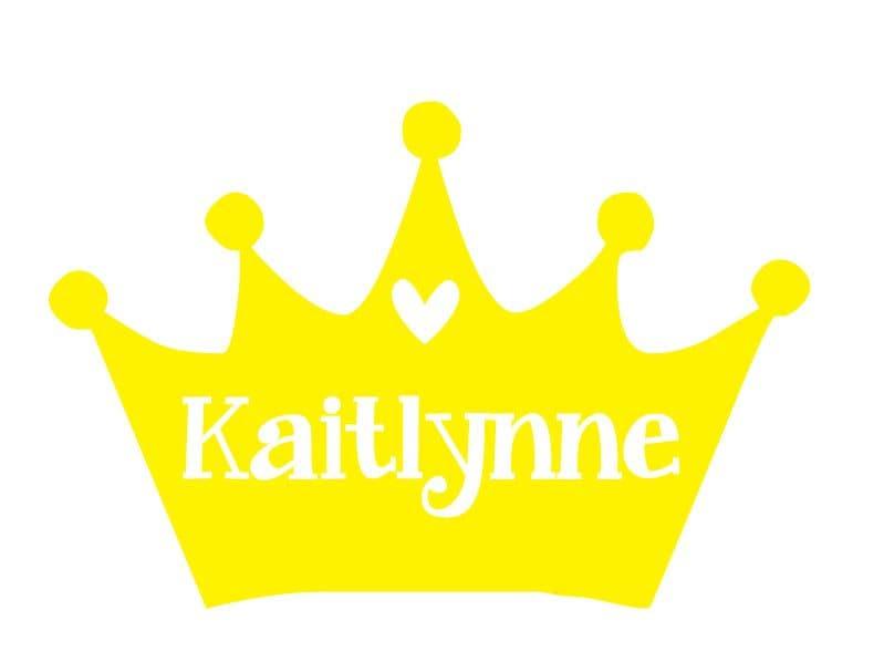 DIY Princess Crown Decal, Crown Decal, Personalized Crown Decal ...