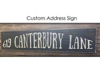 Custom Wood Address Sign, Hand Painted Address Sign, Address Decor, Home Decor, Street Address Sign, Rustic Address Sign, Street Name Sign