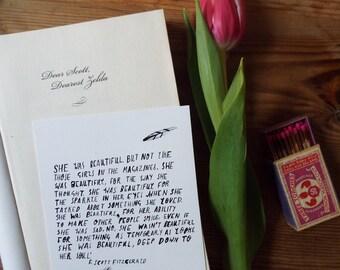 F.Scott Fitzgerald Greetings Card