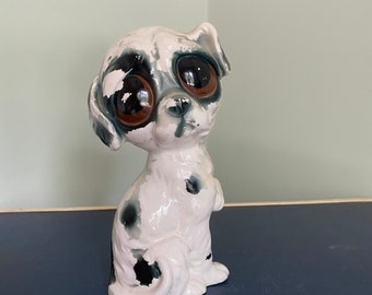 Ceramic Bisque Big Eye Eyed Dog U-Paint Ready to Paint DIY Unpainted Puppy Bug Eye Canine