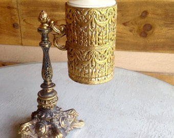 SALE Mid century brass Hollywood regency Dixie cup holder for your bathroom