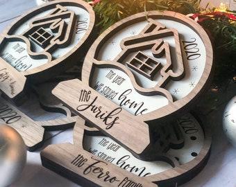 Snowglobe Family Ornament | Christmas Tree Ornament | 2020 Stayed Home Ornament | Personalized Family Ornament
