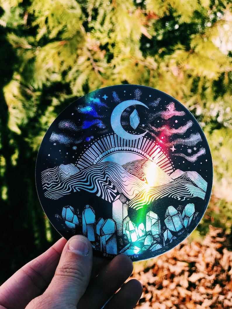 Holographic Appalachia Mountain Range Asheville Extra Large 5 image 0
