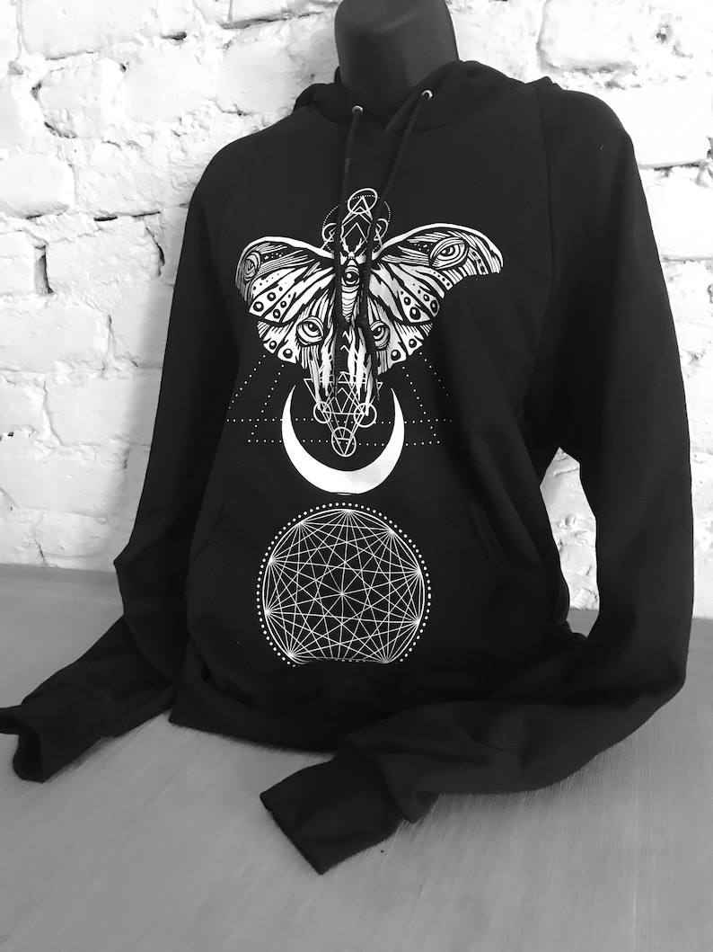 Sacred Moth Unisex Pullover Hoodie image 0