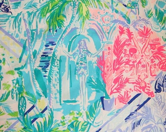 d7280046d2141c 1 Yard BTY Lilly Pulitzer Fabric Multi Bohemian Queen