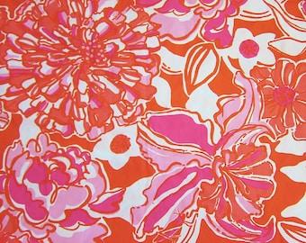 "18"" x 18"" Lilly Pulitzer Fabric  Tango Orange Tango & Hopper   a"