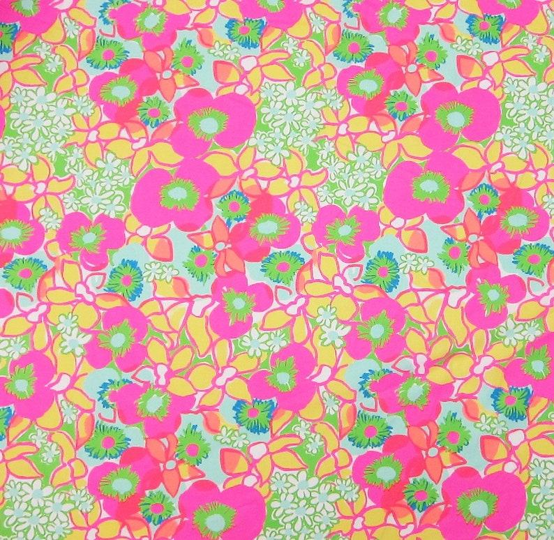 f835f674204146 1 yard 36 x 57 Lilly Pulitzer Fabric Multi Ice   Etsy