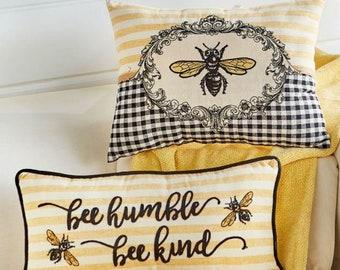 Mama Bee Spring Yellow throw pillow Gift idea Indoor Honey Bee Bee Outdoor Pillow Cover