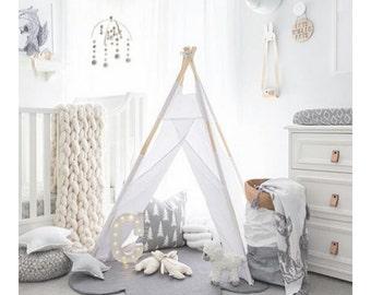 Felt CLOUD RUG LARGE, Felt Rug, <Grey> Nursery Rug, Felted Rug, Kids Room Rug, Children decor, Wool Rug, Playmat