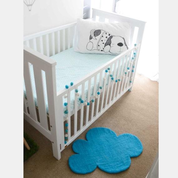 Cloud Teppich Blauem Filz Teppich Kinderzimmer Teppich Teal Etsy