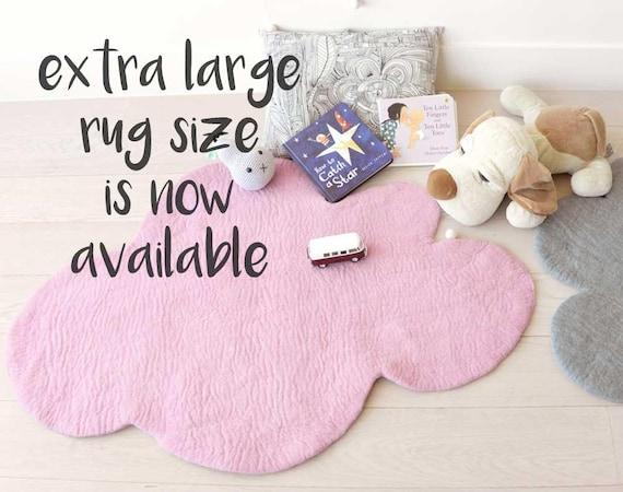 fc8a335d9 CLOUD RUG Extra LARGE Felt Rug Soft Pink Nursery