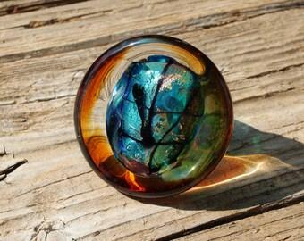 Murano glass ring-BIG glass rings- Lampwork ring-Venetian glass ring-glass ring-Statement ring-Anello in vetro-Bague en verre-SIZE 8