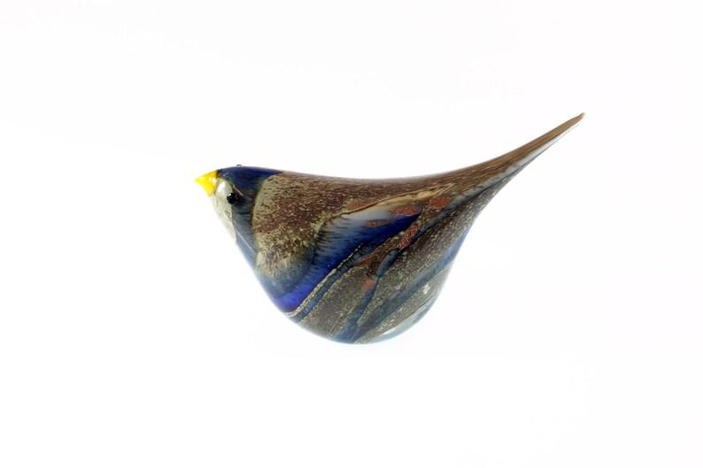 lampwork bird-Blown glass bird-oiseau en verre Glass bird Lampwork glass bird animali vetro soffiato-