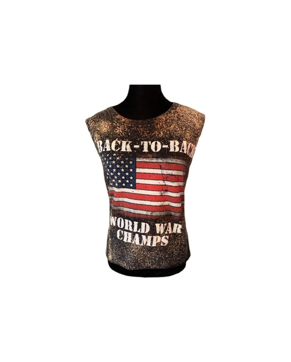 Back To Back World War Champs | Distressed | Bleac