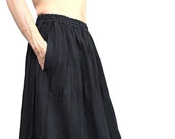 ChomThong Hand Woven Cotton Pintuck Skirt(SRL-002-01)