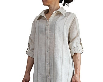 Hemp Linen Long Shirts (BFS-168-02)
