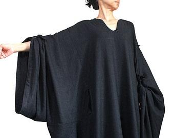 Soft Hemp Loose Long Caftan Dress (DNN-090-01)