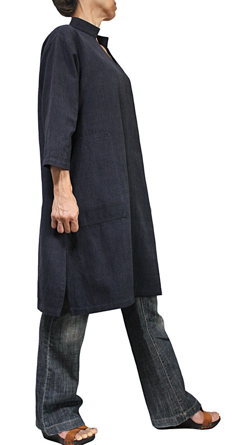 ChomThong Hand Woven Cotton Skipper Collar Tunic BFS-162-03