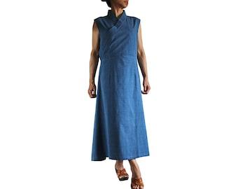 ChomThong Hand Woven Cotton Chupa Style Sleeveless Dress (DFS-039)