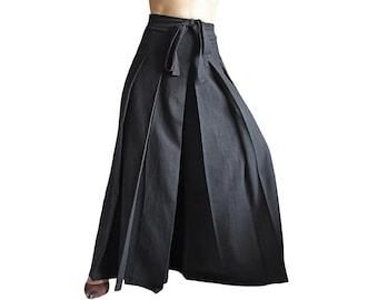 Unisex ChomThong Hand Woven Cotton Hakama Pants (PFS-026)