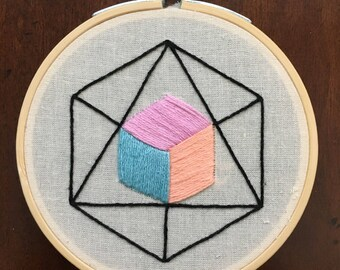 Sacred Geometry Embroidery Hoop Art Wall Decor