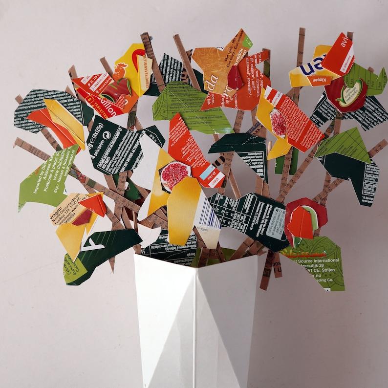 Board cardboard orange Bouquet image 0