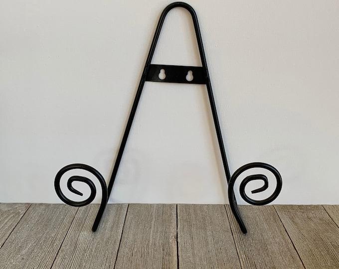 wall plate holder, black iron plate hanger, ceramic hanger,