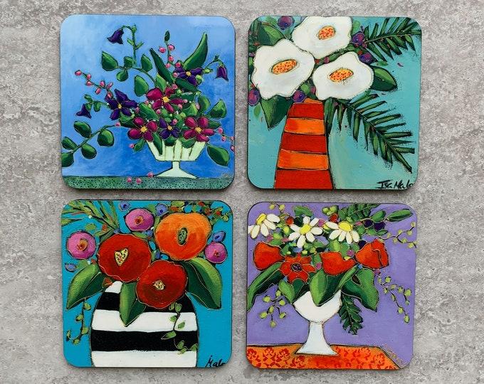 Set of Coasters wood cork