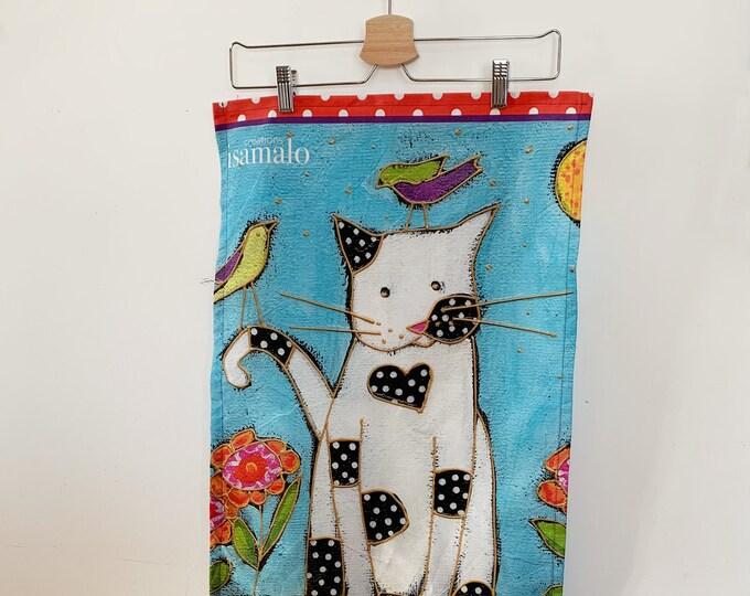 Tea towel, cotton, Hemp, Cat,