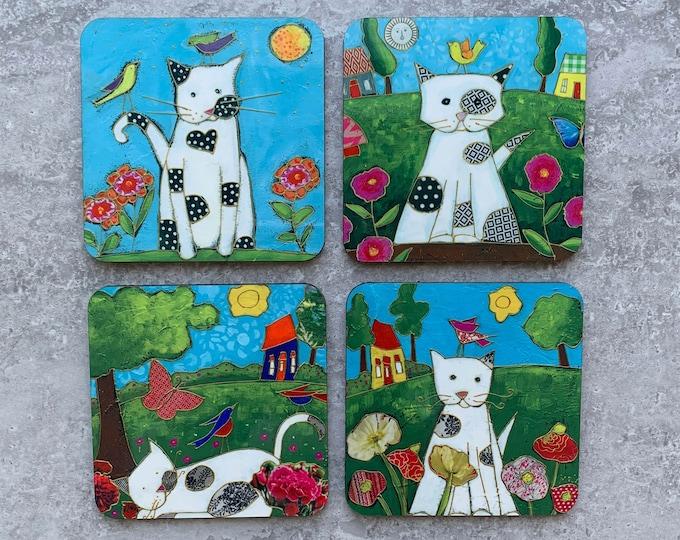 Set of Coasters cat