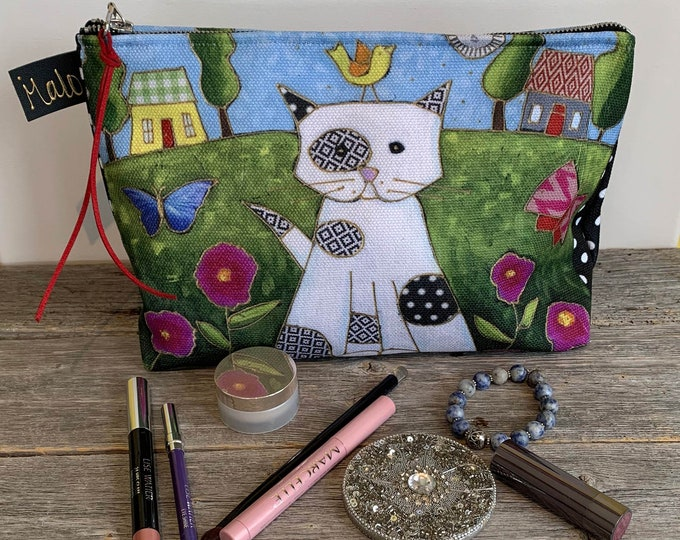 Cat Cosmetic bag  - cosmetic pouch - cosmetic lover case gift, Cat lover gift