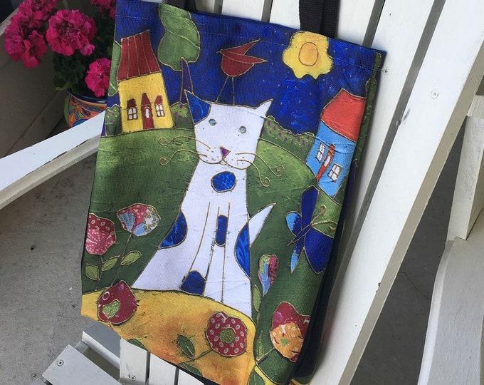 Cat Tote bag, Canvas bag, shopping bag, Eco friendly bag, Cat lover gift bag