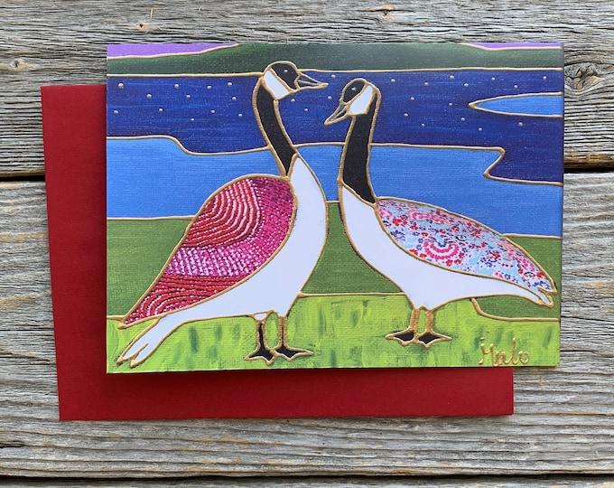 Greeting card canada goose